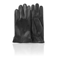 Мужские перчатки из натуральной кожи ягненка с тисненными порами от Dali Exclusive, арт. 11_MONT/BL