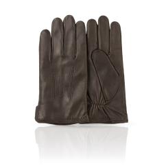 Классические коричневые мужские перчатки из натуральной кожи ягненка от Dali Exclusive, арт. 11_MURES/BR