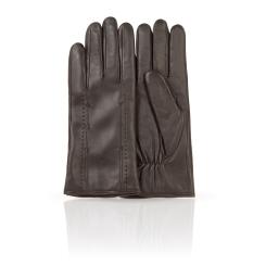 Мужские перчатки из натуральной кожи ягненка коричневого цвета от Dali Exclusive, арт. 11_NOBIL/BR//11