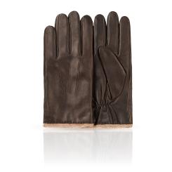 Мужские перчатки из натуральной кожи ягненка с шерстяной подкладкой от Dali Exclusive, арт. 11_ZURICH/BR