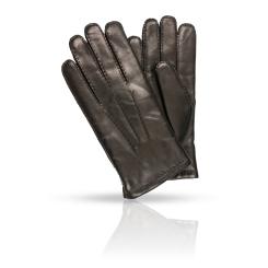 Мужские перчатки из натуральной кожи ягненка в классическом стиле от Dali Exclusive, арт. 46_BRL/BL