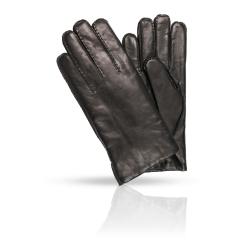 Мужские перчатки из натуральной кожи ягненка в классическом стиле от Dali Exclusive, арт. 46_PRS/BL