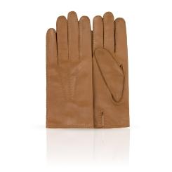 Мужские перчатки из натуральной кожи ягненка с шерстяной подкладкой от Dali Exclusive, арт. 86_ENGLAND/BEIGE//11
