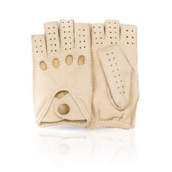 Автомобильные женские перчатки из натуральной кожи оленя цвета слоновой кости от Dali Exclusive, арт. DMG0.5/IVORY
