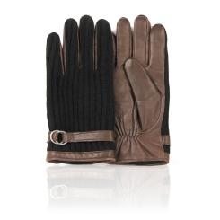 Коричневые замшевые мужские перчатки с шерстяными элементами от Dali Exclusive, арт. GT_OSLO/BROWN.BL//11