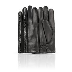 Мужские перчатки из натуральной кожи с тисненной половиной от Dali Exclusive, арт. L100_DAREN/BL//11