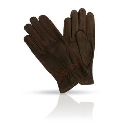Коричневые замшевые мужские перчатки с теплой шерстяной подкладкой от Dali Exclusive, арт. N12_TORM/R.DBR//11