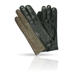 Мужские перчатки из натуральной кожи ягненка, декорированы тиснением от Dali Exclusive, арт. R86_CORVIN/BR//11