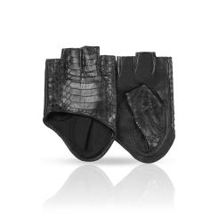 Автомобильные черные женские перчатки из натуральной кожи ягненка от Dali Exclusive, арт. RYN0,5/F.BL