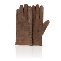 Коричневые замшевые мужские перчатки с теплой шерстяной подкладкой от Dali Exclusive, арт. S16_ARM/BR//11