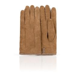 Коричневые мужские замшевый перчатки, модель с шерстяной подкладкой  от Dali Exclusive, арт. S16_FORK/MARON