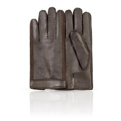 Мужские перчатки из натуральной кожи ягненка коричневого цвета от Dali Exclusive, арт. S16_HUN/BR//11