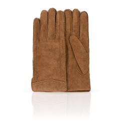 Мужские перчатки из качественной натуральной замши коричневого цвета от Dali Exclusive, арт. S16_HUN/MARON//11