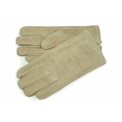 Бежевые мужские замшевые перчатки, модель с шерстяной подкладкой  от Dali Exclusive, арт. S16_METH/BEIGE//11