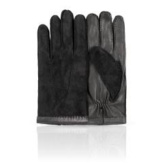 Мужские перчатки из натуральной кожи ягненка и матовой замши от Dali Exclusive, арт. SL16_BERLIN/BL