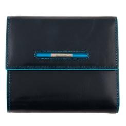 Мужской кошелек из натуральной кожи, черного цвета, с монетницей на молнии от Dor. Flinger, арт. 0034-12-624 black DF