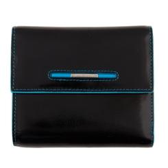 Мужской кошелек из натуральной кожи, черного цвета, со съемной визитницей от Dor. Flinger, арт. 0034-12-632 black DF