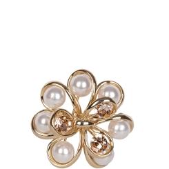 Модный зажим для платков, выполненный в виде роскошного цветка от Eleganzza, арт. R441 gold