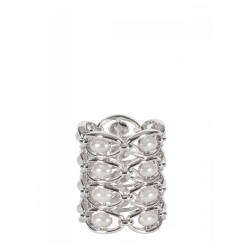 Стильный зажим для платков из металла цвета никеля от Eleganzza, арт. R533 nickel