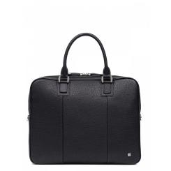 Мужская деловая сумка из натуральной кожи для ноутбука и документов от Eleganzza, арт. Z01-180102 black