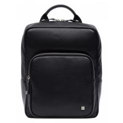 Классический мужской городской рюкзак из черной натуральной кожи от Eleganzza, арт. Z03-180103 black