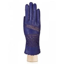 Ярко-синие женские перчатки из натуральной кожи ягненка без подкладки от Eleganzza, арт. F-IS0704 royal blue