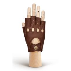 Автомобильные женские перчатки из коричневой натуральной кожи от Eleganzza, арт. HS012W camel