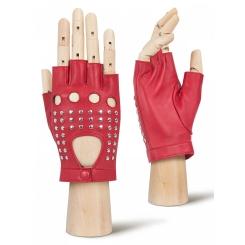 Автомобильные женские перчатки из красной натуральной кожи ягненка от Eleganzza, арт. IS222 red