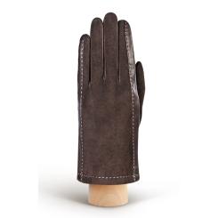 Стильные мужские перчатки из натуральной кожи и велюра от Eleganzza, арт. IS408 brown