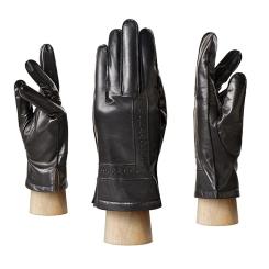 Стильные мужские перчатки из натуральной кожи черного цвета от Eleganzza, арт. OS132 black