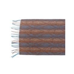 Дизайнерский мужской шарф в коричневых и голубых тонах из шерсти и кашемира от Eleganzza, арт.  33х170 U42-5570-16