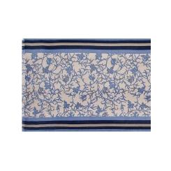 Дизайнерский мужской шарф в бежево-голубых тонах из теплой шерсти и кашемира от Eleganzza, арт. U42-5561-11