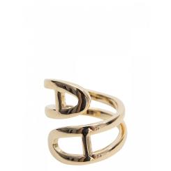 Женский зажим для платков, золотистого цвета, в форме цилиндра от Eleganzza, арт. R641 gold