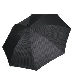 Мужской зонт трость с куполом из тефлона черного цвета от Fabretti, арт. 1721