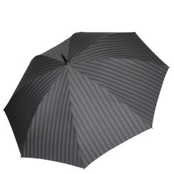 Мужской зонт трость с тефлоновым куполом черного цвета от Fabretti, арт. 1723