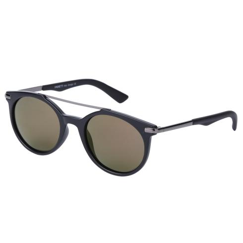 Круглые женские солнцезащитные очки классического черного цвета от Fabretti, арт. E271790-1PZ