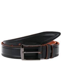 Классический мужской ремень для брюк из натуральной кожи темно коричневого цвета от Fabretti, арт. FR10235-120 brown