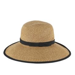 Шляпа от итальянского бренда бежевого цвета от Fabretti, арт. G11-1 beige