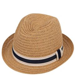Женская летняя шляпа с узкими полями, модель бежевого цвета от Fabretti, арт. GL41-3 BEIGE
