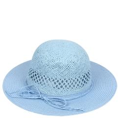 Шляпа от итальянского бренда, нежного голубого оттенка от Fabretti, арт. GL42-5 BLUE