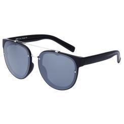 Стильные женские солнцезащитные очки черного цвета с круглой оправой от Fabretti, арт. J173388-1PZ