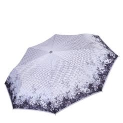 Автоматический зонт с куполом из эпонжа, модель с геометрическим принтом от Fabretti, арт. L-17105-6