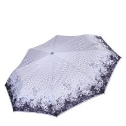 Автоматический зонт с куполом из эпонжа, геометрический принт от Fabretti, арт. L-17105-6