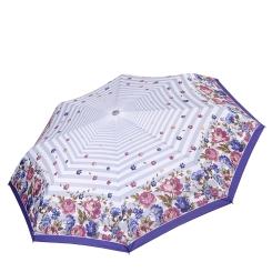 Облегченный автоматический зонт с принтом по краю купола, из эпонжа от Fabretti, арт. L-17105-8