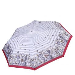 Облегченный автоматический зонт с принтом по краю купола, из эпонжа от Fabretti, арт. L-17105-9