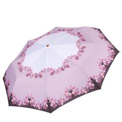 Легкий зонт автомат с цветочным принтом, из эпонжа от Fabretti, арт. L-17106-2