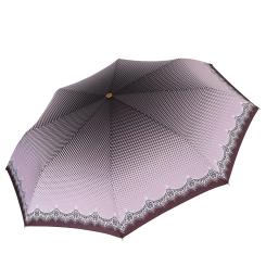 Автоматический женский зонт с куполом из эпонжа, ультра легкая конструкция от Fabretti, арт. L-17106-4