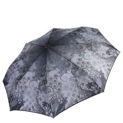 Автоматический зонт с сатиновым куполом с геометрическим принтом от Fabretti, арт. L-17109-4