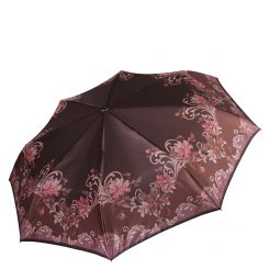 Женский зонт из сатина, облегченная модель с красивым рисунком от Fabretti, арт. L-17109-7