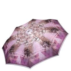 Лиловый женский зонт автомат с красивым принтом на куполе от Fabretti, арт. L-17115-1